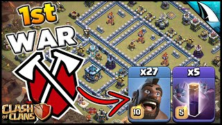 1st War with Tribe Gaming and I used Bat Spells and Hogs | Clash of Clans