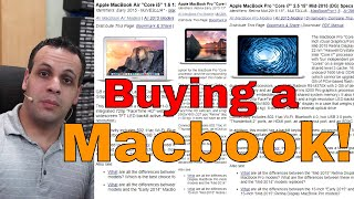 Macbook buyer's guide: Louis' recommendation list.