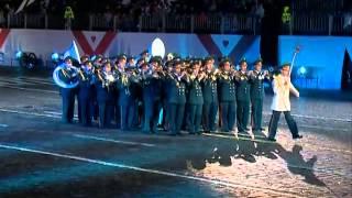 Белорусский военный оркестр выступил у стен Кремля