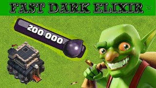 TH9 BEST AND FASTEST DARK ELIXIR FARMING STRATEGY - Clash of Clans 2018