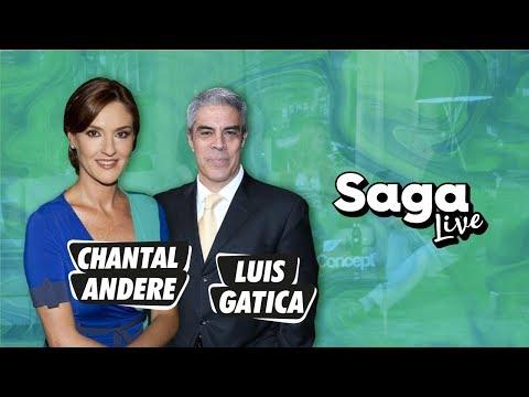 #SagaLive Chantal Andere y Luis Gatica con Adela Micha