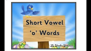 Short Vowel   o  Words.   Read   Write   Learn   with Pictures   Senior   Three Letter Words   CVC