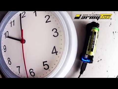 Зарядка аккумулятора 18650 Li-Ion 3000мАч для Vape c помощью Armytek Handy C1