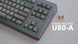 Rama Works U80-A Seq1 Build | Holy Panda + GMK Oblivion Typing Sounds
