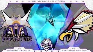 Braviary  - (Pokémon) - FREEZE-DRIVE! | Minnesota Vikavolts VS Philadelphia Braviaries PLAYOFFS NPA S3  | Pokemon Sun Moon