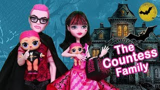 LOL Families ! The Countess Family Bat Mystery | Toys and Dolls Fun for Kids w/ LOL Surprise | SWTAD