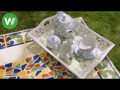 Mosaikkunst - so entsteht ein Tisch aus Mosaik!
