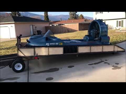 Hovercraft Prototype Trailer First Load