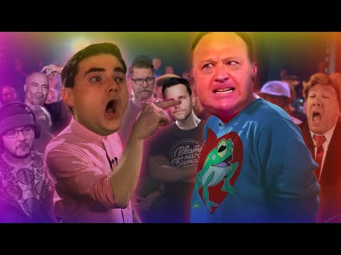 Ben Shapiro battles Alex Jones (IDW impressions compilation)