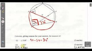 CSEC CXC Maths Past Paper 2 Question 10a January 2014 Exam Solutions. ACT Math, SAT Math,