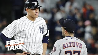 First Take reacts to Aaron Judge & LeBron sounding off on the Astros' cheating scandal