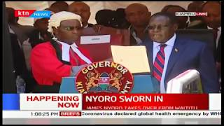 James Nyoro sworn in as the 3rd Governor of Kiambu County