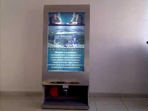 Ayakkabı Temizleme Makinası-Bilbord Tanıtım ve Reklam Özelliği