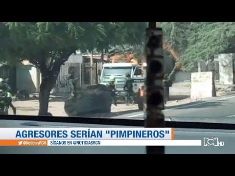 Indignacion por ataque con bomba incendiaria a policias en Maicao, La Guajira   Noticias RCN
