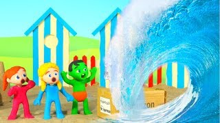 Amazon Box Was Found At The Beach ❤ Cartoons For Kids
