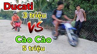 Lâm Vlog - Mua Xe Moto Ducati Mini 50cc Chạy Xăng Giá 3 triệu | Pocket Bike for Kids $150
