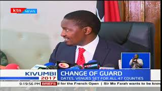 Devolution CS Mwangi Kiunjuri says all is set for swearing-in ceremonies of County Governors