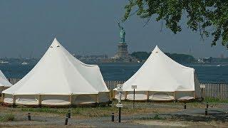 Пожить в гламурных палатках с видом на Нью-Йорк