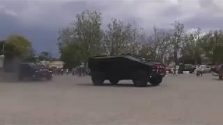 Колонна бронеавтомобилей Фалькатус в Севастополе, Крым 2017