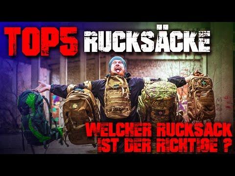 Top 5 Rucksäcke - Welcher Rucksack ist der richtige? Outdoor Survival Backpacking Bushcraft EDC