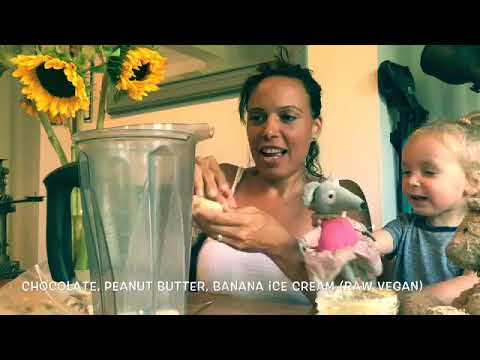 Easy vegan chocolate banana peanut butter ice cream video