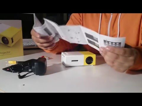 Mini Projector LED - Unboxing In The Dark