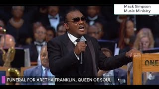 Ron Isley Sings For Aretha Franklin's Funeral