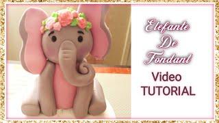 Elefantita De Fondant/ Cake Topper De Elefant/ Video Tutorial De Elefante De Fondant