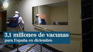 España recibirá 3,1 millones de vacunas del coronavirus en diciembre