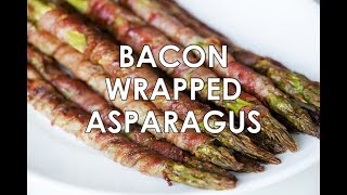 Bacon Wrapped Asparagus Recipe In The Oven (Crispy, Paleo & Low Carb)