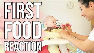 BABY'S FIRST SOLID FOOD | WEANING A BABY AT 5 MONTHS OLD | Ysis Lorenna