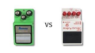 1983 Ibanez TS9 vs Boss Angry Driver JB2