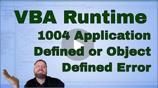 VBA run-time error