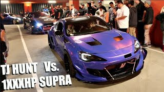 TJ HUNT Vs. 800HP AK47 SUPRA! Shutting Down HUGE LA Car Meet