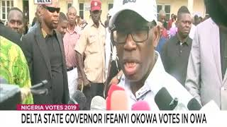 Delta State Governor Ifeanyi Okowa Votes In Owa
