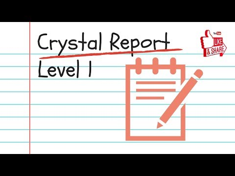 Crystal Report Beginner Training Tutorial 2019 - An Introduction To ...