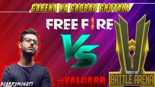 CARRYMINATI VS FREEFIRE || FREEFIRE HACKERS ARENA || FREEFIRE KE BIKAU YOUTUBERS || FREEFIRE INDIA
