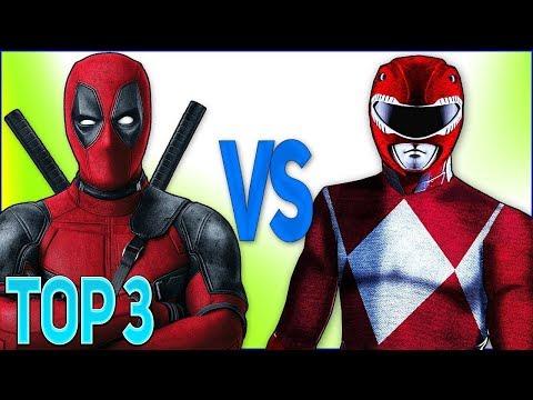 ТОП 3 РЭП БИТВ СУПЕР-ГЕРОЕВ (РЕЙНДЖЕРЫ VS ДЭДПУЛ) | Top Superhero rap Power Rangers VS Deadpool 2