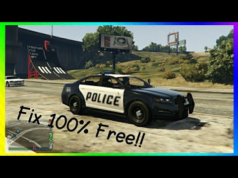 GTA Online Fix Cop Car Glitch [PS4, X1, PC]