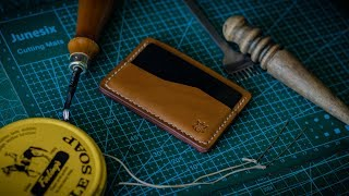#01 Making Minimalist Leather Card Holder How Its Made? DIY