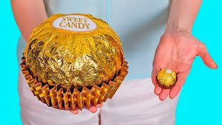 How to make GIANT FERRERO ROCHER At Home