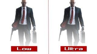 Hitman – PC Low vs Ultra Graphics Comparison