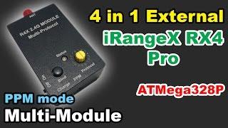 ✅ IRangeX R4X Pro PPM 4in1 Multi Protocol External TX Module ATMega328P BangGood