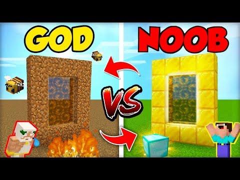 NOOB PORTÁL DO JINÉ DIMENZE vs. GOD PORTÁL (OBRÁCENĚ!)