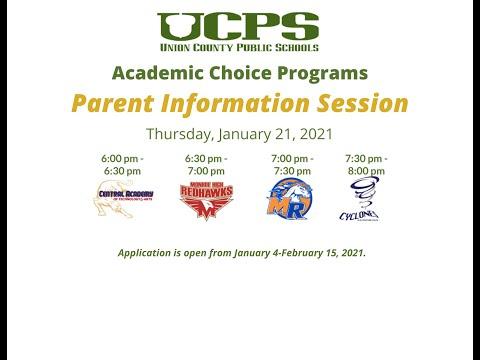 , title : 'Academic Choice Programs Parent Meeting