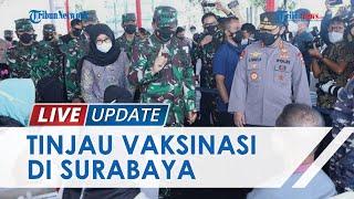 Vaksinasi di Lapangan Thor Surabaya Ditinjau Panglima TNI, Kapolri hingga Gubernur Jawa Timur