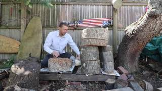 How To Make Log Totems Easy DIY Backyard Oyster Mushroom Farm