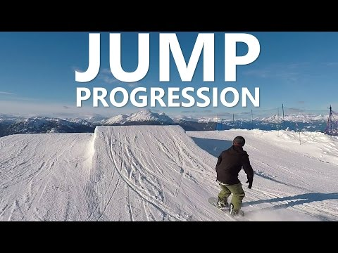 Beginner Snowboard Jump Progression with Doug