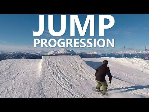 Beginner Snowboard Jump Progression with Doug