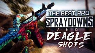 CS:GO | The BEST PRO SPRAYDOWNS & DEAGLE SHOTS (The best Juan Deag's, Incredible ACEs) ESL MONTAGE